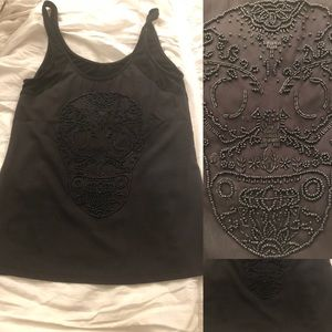 Black Skull Tank Top from Nordstrom